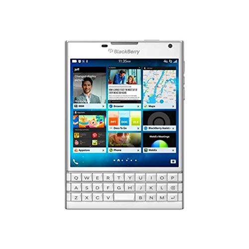 BlackBerry Passport Smartphone (11,4 cm (4,5 Zoll) Bildschirm, Nano-SIM, QWERTZ, 32GB interner Speicher, 13 Megapixel Kamera, Blackberry OS 10.3) weiß