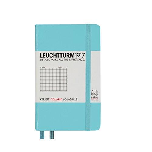 Leuchtturm1917 339601 - Cuaderno de notas (A6, 185 páginas, hojas cuadriculadas), color azul