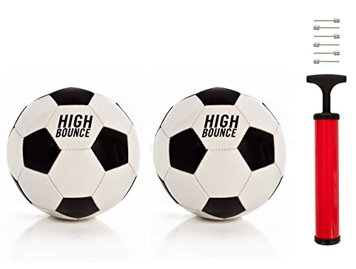High Bounce Soccer Balls for Kids- 8.5 Inches Set of 2 Soccerballs for Kids Home and School Comes with a Needle and Pump
