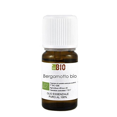 Olio essenziale BERGAMOTTO BIO 10ML 100% PURO E NATURALE - AROMATERAPIA COSMETICA ALIMENTARE