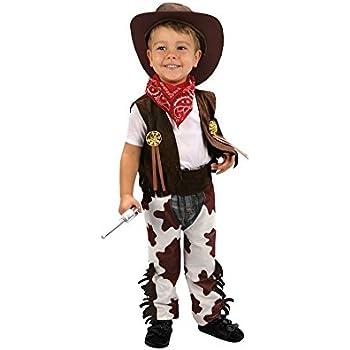 Disfraz de Vaquero marrón y blanco 3-4 años niño: Amazon.es: Ropa ...