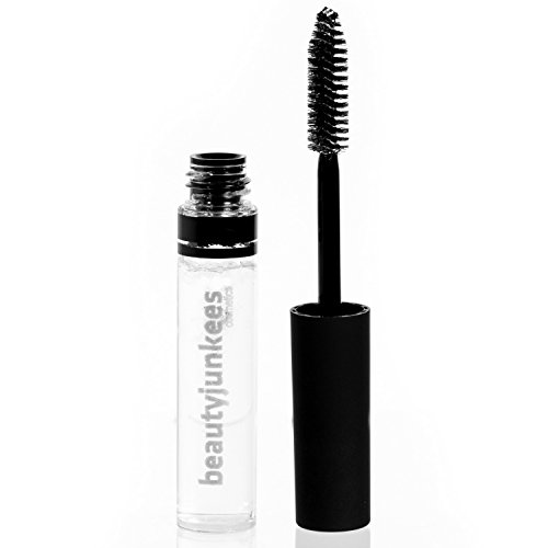 Beauty Junkees Clear Brow Fix Gel - Eyebrow Setting Sealer Tamer Sculpting Gel with Mascara Brush to Control, Holding Eye Brows in Place All Day, Paraben and Cruelty Free