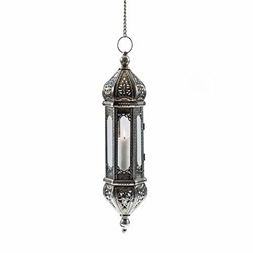 Pajoma 20608Farol Colgante mahira, Metal y Cristal, Altura 50cm