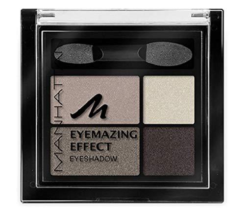 Manhattan Eyemazing Effect Eyeshadow – Schmink-Palette aus vier schimmernden Lidschatten-Farben für Smokey Eyes – Farbe Rosy Wood 95C – 3 x 5g