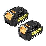 2 Pack Hochstern 18V 5.0Ah MAX XR Repuesto Batería para Dewalt 18V DCB205 DCB184 DCB200 DCB182 DCB180 DCB181 DCB182 Compatible con DCS355N-XJ DCW210N-XJ DCM563PB-XJ