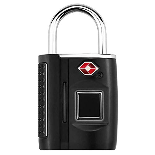 Smart vingerafdruk-hangslot, anti-diefstal keyless biometric Security Lock USB-oplaadwaterdicht, geschikt voor voordeur en koffer. zwart