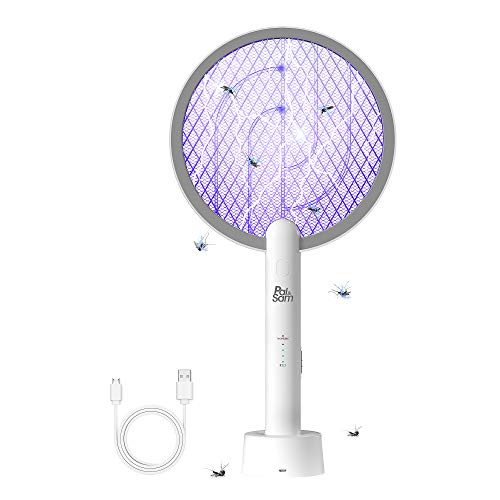 PAL&SAM Bug Zapper, Mosquito Killer Mosquitoes Lamp & Racket 2 in 1 Fly Swatters Electric