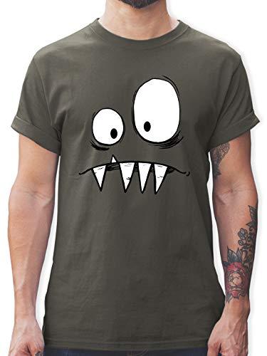 Karneval & Fasching - Monster Kostüm - L - Dunkelgrau - t Shirt Damen rot Marke - L190 - Tshirt Herren und Männer T-Shirts