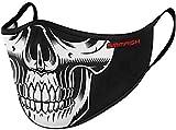 SMMASH Mundschutz Maske Wiederverwendbar, Hochwertiges Gesichtsmaske Waschbar, Multifunktional Trainingsmaske für Radfahren, Laufen, Staubschutzmaske für Damen, Herren (L/XL, Skeleton)