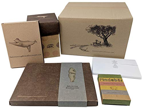 Achtsamkeits-Geschenkkorb - 5 verschiedene Produkte im Set inklusive beliebtem Glas mit vielen Übungen zum Achtsamkeitstraining