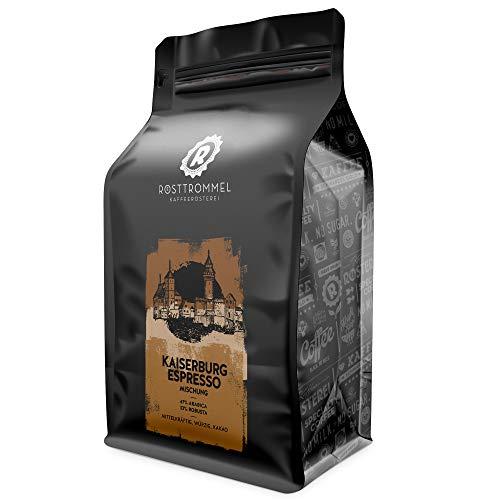 Espressobohnen KAISERBURG - Rösterei des Jahres 2017 - Kakaonote - handgeröstet für Vollautomat