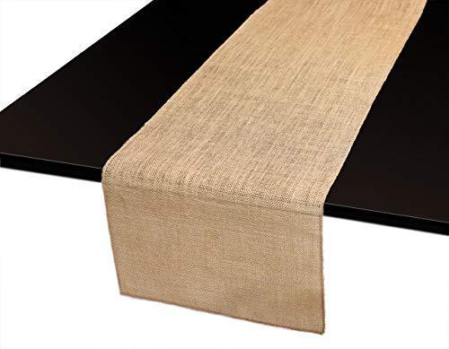 RERI Jute Tischläufer | Tischband für wundervolle Dekorationen für Hochzeit, Taufe, Weihnachten und Festlichkeiten (Natürlich, 35,5 * 182CM)
