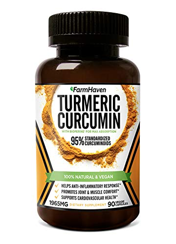 Turmeric Curcumin with BioPerine Black Pepper & 95% Curcuminoids, 1965mg,...