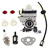 HURI Carburatore e guarnizione candela di accensione filtro benzina con tubo per tagliasiepi Güde GMH 600 GMH 601, Fuxtec FX-MH 1.2-257