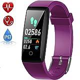 HETP Fitness Tracker, Heart Rate Fitness Wristband Smart Watch Waterproof IP67 Activity Tracker