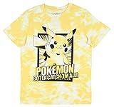 Pikachu Boy's Gotta Catch Em All Tie Dye T-shirt, Large