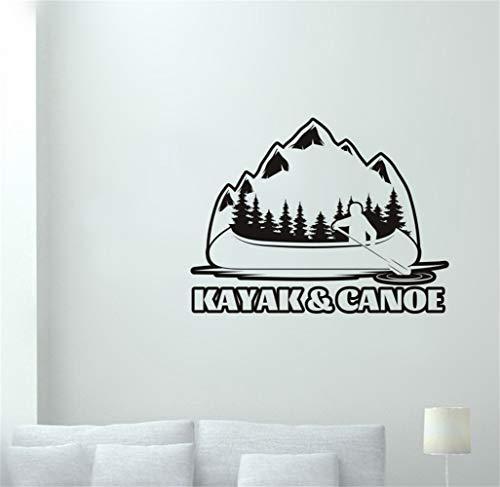 wandaufkleber 3d Kajak Aufkleber Wald Outdoor Sports Kayak Tours Aufkleber Poster Dekor Wandbild Skifahren Aufkleber für Wohnzimmer