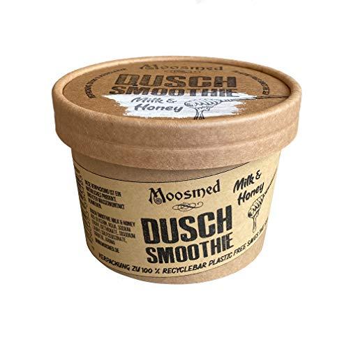 Moosmed Dusch Smoothie Milk&Honey - vegane Bio-Seife handgefertigt in Deutschland – Dusch Butter mit Peeling Effekt