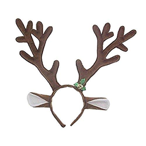 Bello Luna Reindeer Antlers Fascia Natale Natale Halloween Pasqua Party Headwear Hair Band capelli accessorio dei capelli di cerchio