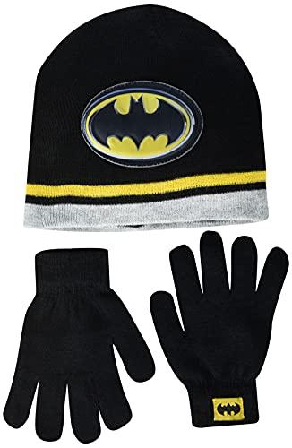 DC Comics Batman Little Boys Beanie Hat and Gloves Winter Set, 8