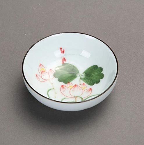 qnmbdgm Chinese schilderset delicaat handgeschilderd Celadon gekleurde lak poeder klein Kungfu theekopje Master