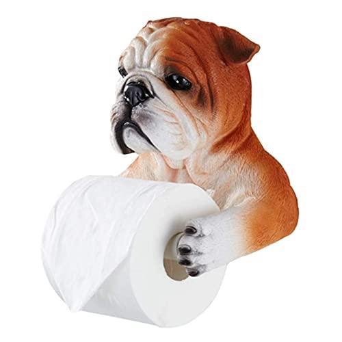 QHWJ Porta rulli della Toilette, distributore di creatività Deposito del Supporto della Carta igienica Creativo Bulldog Bagno Toilette Toilet Holder novità Decorazione del Bagno