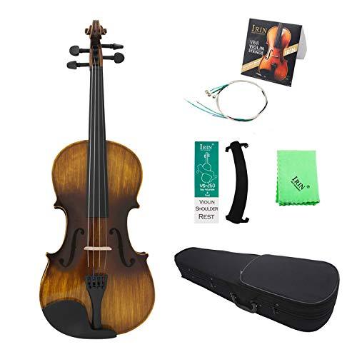 Muslady 4/4 violino acustico vintage lucido Pannello in tiglio Mapel con borsa Appoggio per le spalle Corda per ponte di violino Pezza per pulire