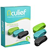 Aculief Wearable Acupressure for Headache and Migraine Relief, All-Natural Muscle Pain and Tension Relief, Travel-Friendly to Support Acupressure Relaxation, 3 Pack (Multicolor)