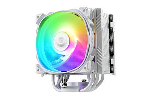 Enermax T50 AXE ETS-T50A-W-ARGB - Refrigerador de CPU para Intel/AMD Ryzen (12 cm, con Ventilador PWM Pressure Silent), Color Blanco