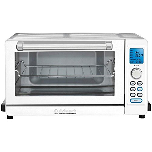 Cuisinart TOB-135W Deluxe Convection Toaster Oven Broiler, White (Certified Refurbished)