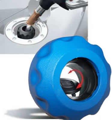 Easycap Blau Tankdeckel Tanken wie in der DTM und Formel 1 Bajonettverschluss