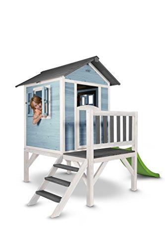 Spielhaus Sunny Lodge XL Holz blau-weiß