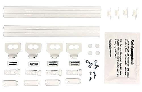 ps QUICKFIX Klebeleistenset zum Nachrüsten für Plissees inkl. Spannschuhen und Trägern - bohrfreie Montage am Aluminium- oder Kunststofffenster - Hier bis 100 cm Breite