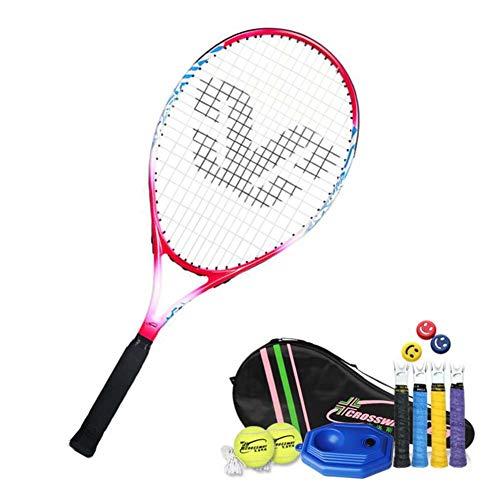 FXQIN Tennisschläger Set für Kinder ab 3 4 5 6 Jahren, Kinder/Jugend Tennisschläger One-Piece-Design Tennis Schläger Set mit Tennistasche,Overgrip,Vibrationsdämpfer