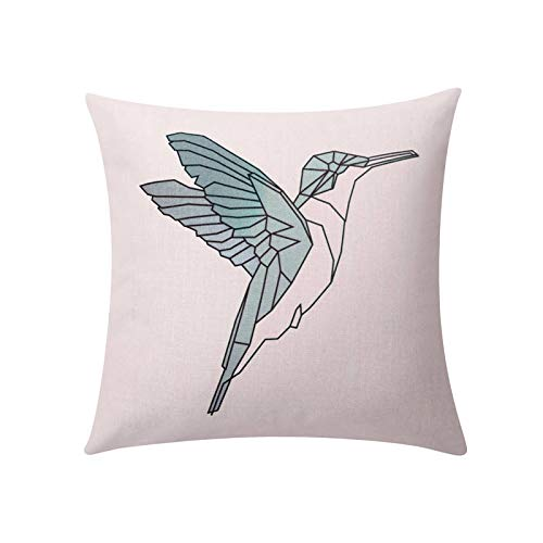 Toll2452 Geometric bird throw pillow covers Humming bird decorative pillow case Nordic simple bird cushion cover Linen cushion case home decor 18x18