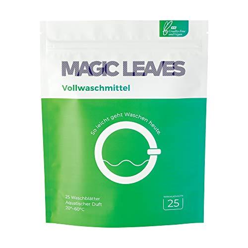 MAGIC LEAVES Vollwaschmittel - perfekt dosierte Waschblätter für weiße und helle Wäsche - 25 WL