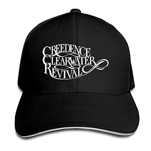 Youaini Creedence Clearwater Revival Rock Band Logo Sports Hat Sandwich Peaked Caps