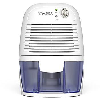 VAVSEA Small Electric Dehumidifier 1200 Cubic Feet  215 sq ft  Portable Mini Dehumidifier Quiet Use for High Humidity in Home Bathroom Bedroom Kitchen Basements Wardrobe Closet Office RV…
