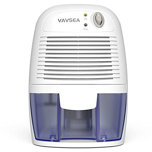 VAVSEA Small Electric Dehumidifier, 1200 Cubic Feet (215 sq ft) Portable Mini Dehumidifier Quiet Use for High Humidity in Home, Bathroom, Bedroom, Kitchen, Basements, Wardrobe Closet, Office, RV…