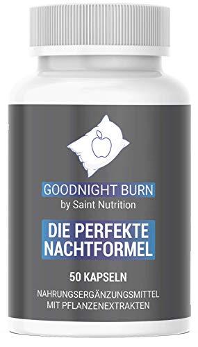 Saint Nutrition® GOODNIGHT F-BURN Kapseln Vegan - 1 Kapsel für die Nacht mit Garcinia Cambogia - für Männer & Frauen, schnell + Hochdosiert & Hergestellt in Deutschland