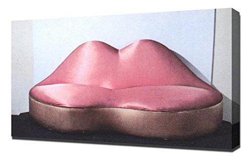 Salvador Dali Lips Sofa - Canvas Art Print Reproduction