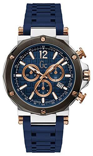 Gc Watches Spirit Herren Uhr analog Quarzwerk mit Silikon Armband Y53007G7MF
