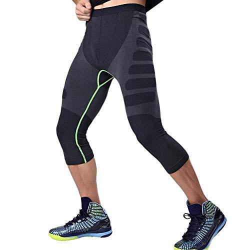 HuntDream Männer Kompressions-Trocken-Coole Sport-Strumpfhosen Hosen Baselayer Laufende Leggings Yoga