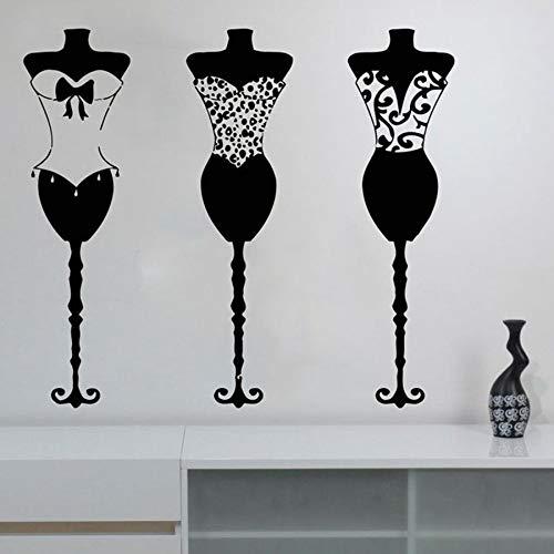 Tianpengyuanshuai Mode kleding vinyl muurstickers boutique kleding jurken mannequins winkel raamdecoratie stickers