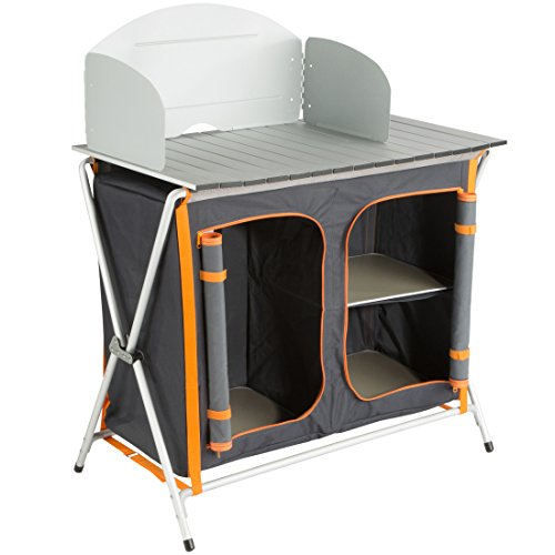 Ultrasport Cocina de camping, armario plegable con 3 compartimentos y...