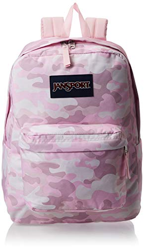 JanSport SuperBreak Backpack - Lightweight School Pack, Cotton Candy Clouds