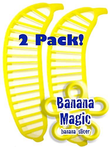 2 Pack Banana Slicer Cutters * Banana Magic * Kitchen Tool - Handy Gadget instantly slice chop banana chips no knife necessary !