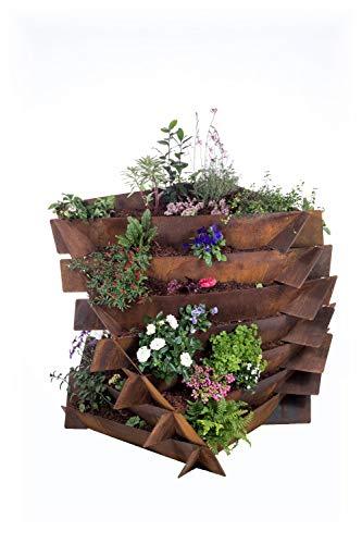 URBANGA Hochbeet Ackerwinde aus Metall für Garten, Balkon, Terrasse / Bausatz aus Cortenstahl, Baustahl & Edelstahl (Cortenstahl, Medium)