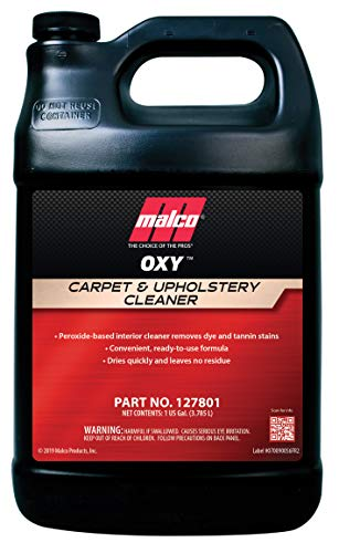 Malco OXY Carpet & Upholstery Cleaner - Stain Remover Spray for Car Interior Fabric / Cleans the Toughest Vehicle Stains / Deep Cleaning Liquid Formula / 1 Gallon (127801)
