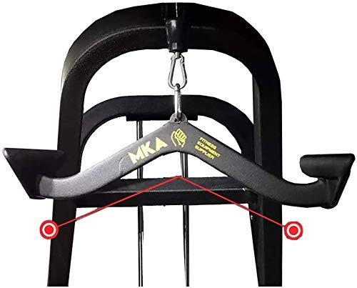 Tokujn Presione hacia abajo Bar Trolley Remo Ejercitor Equipo de fitness para el gimnasio para el hogar Entrenamiento de la fuerza trasera, la máquina de cable de la barra de arrastre de la Lat, gimna